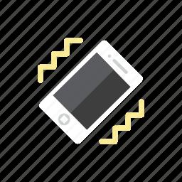 smartphone, vibration icon