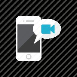 smartphone, video icon