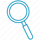 explore, find, magnifier, search, zoom icon
