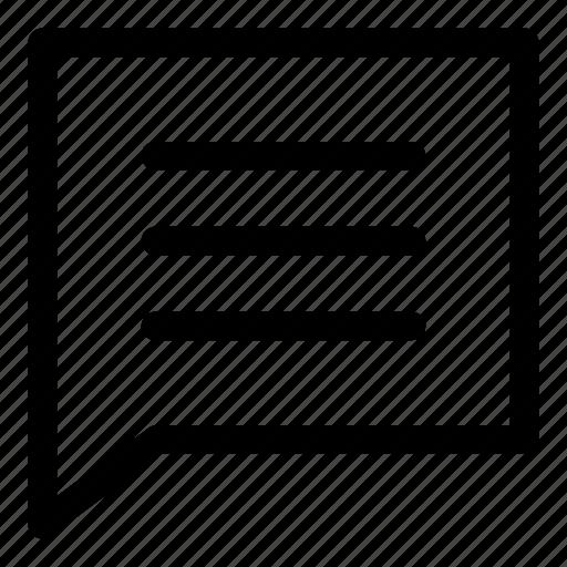 box, comment, comments, message icon