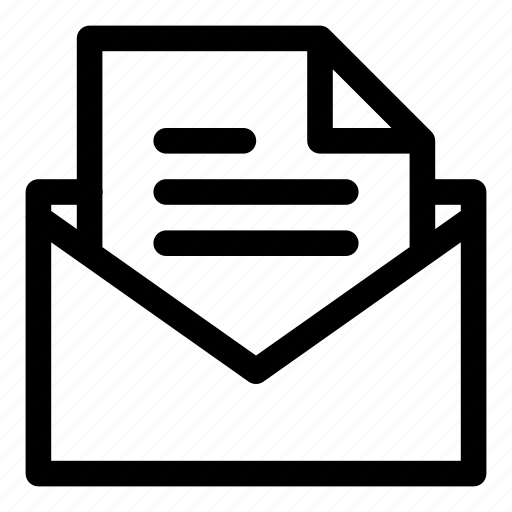 mail, open, open mail, open message icon