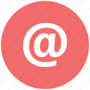 aroba, arroba symbol, at, at symbol, email, email address icon