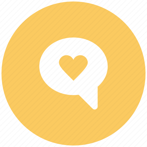 chat balloon, chat bubble, heart bubble, love, love chat, romance, speech bubble icon