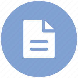document, draft, file, note, sheet, text icon