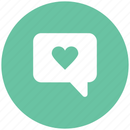 chat balloon, chat bubble, heart bubble, love, love chat, romance, speech bubble icon