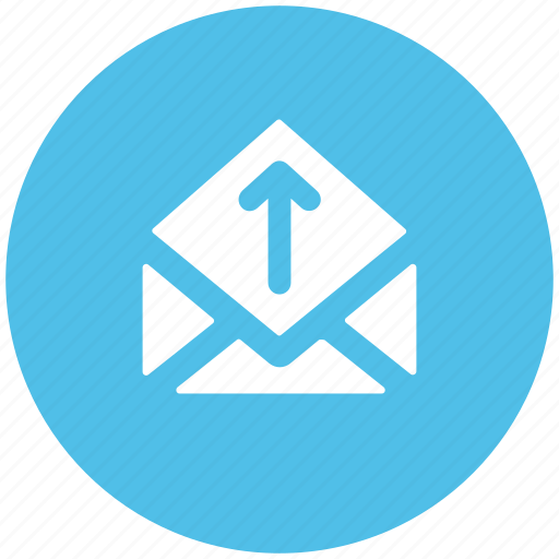 arrow, email arrow, envelop, letter, mail, sent email icon