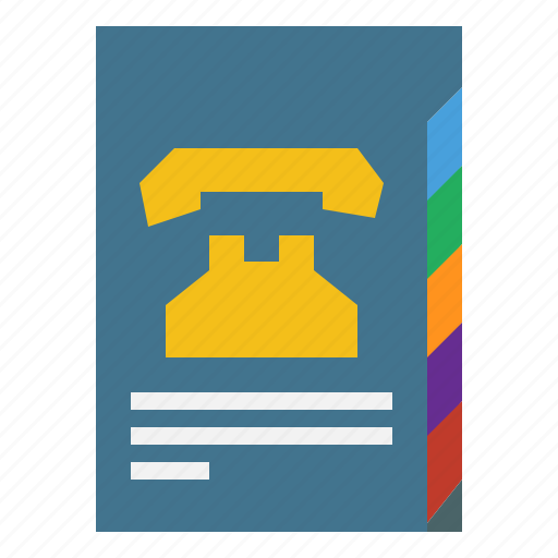 agenda, communications, notebook, phonebook, schedule icon