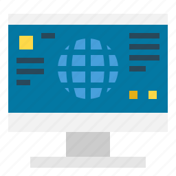 communications, computer, internet, monitor, screen, technology icon