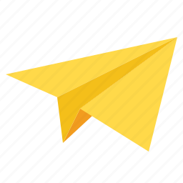 airplane, childhood, communications, message, paper, plane icon