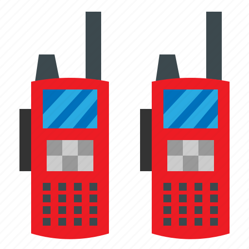 Police, communication, communications, frequency, talkie, walkie, technology icon