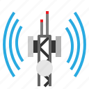 antenna, communications, internet, radio, technology icon