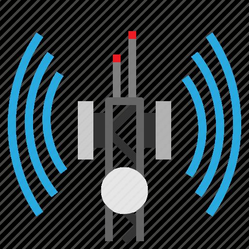 antenna, communications, internet, radio, technology icon
