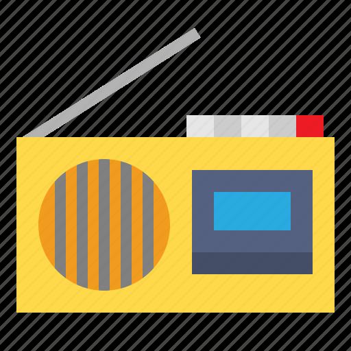 Radios, transistor, communications, radio, news, technology icon