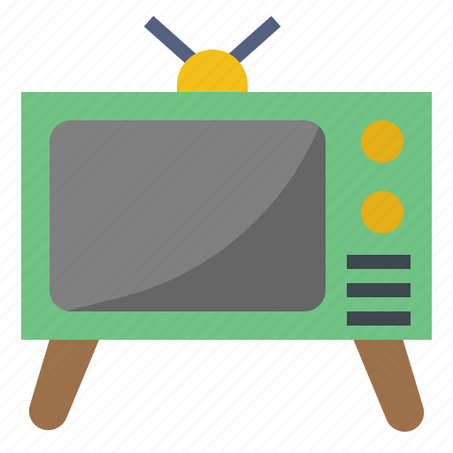 electronics, monitor, television, transport, tv, vintage icon