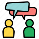 bubble, chat, commerce, communications, information, speech, support icon