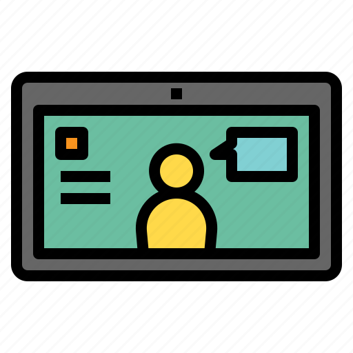 communication, communications, computer, screen, technology, video, webcam icon
