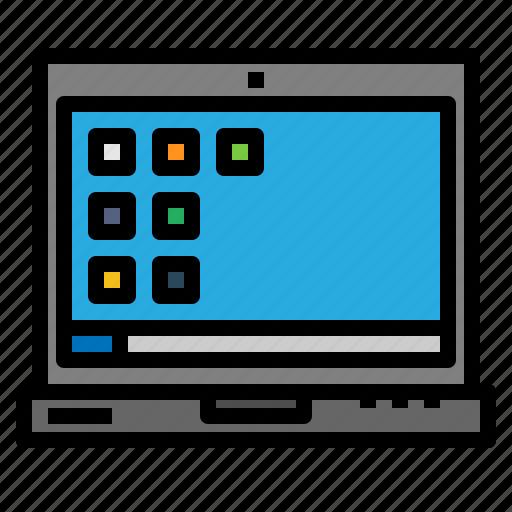computer, computing, electronic, electronics, laptop, technology icon