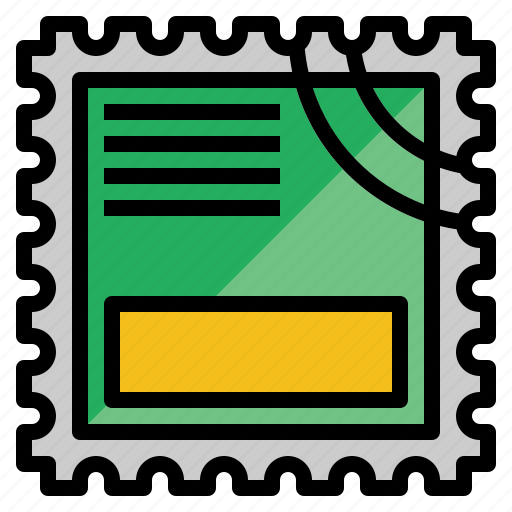 communications, graphic, interface, mail, multimedia, option, stamp icon