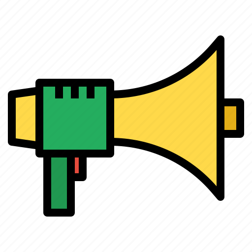 bullhorn, communications, loud, loudspeaker, marketing, megaphone, speaker icon