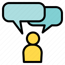balloon, bubble, communications, people, speech, talk icon