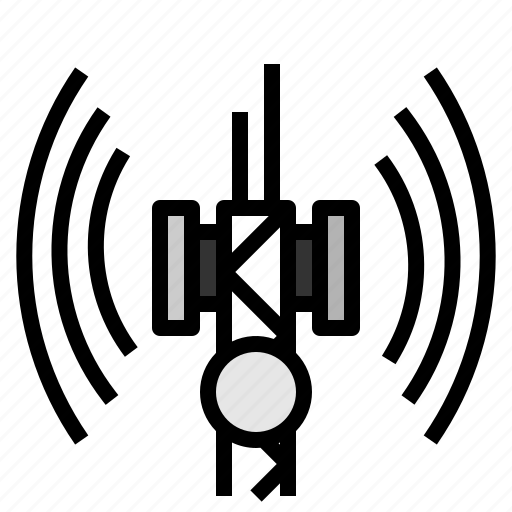antenna, communications, connectivity, electrical, radio, technology icon