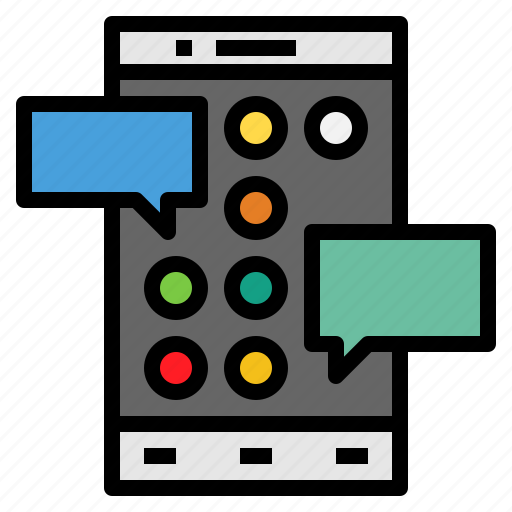 cellphone, communications, iphone, mobilephone, smartphone, technology, touchscreen icon