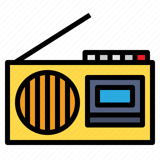 communications, news, radio, radios, technology, transistor icon