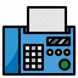 communications, fax, material, office, technology, telephone icon