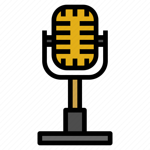 communications, microphone, radio, sound, technology, vintage, voice icon