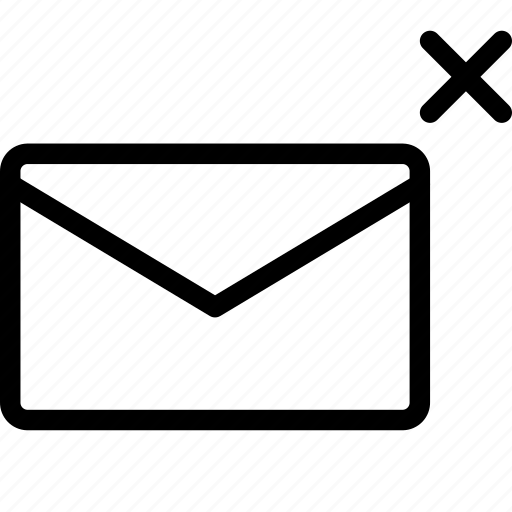 delete, email, letter, mail, message icon