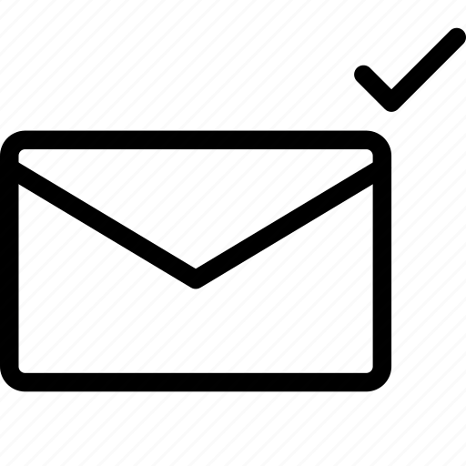 communication, done, envelope, interface, letter, mail icon