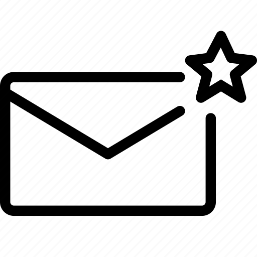 email, envelope, favorite, mail, message icon