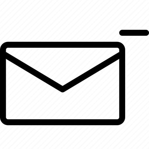email, envelope, letter, mail, message, remove icon