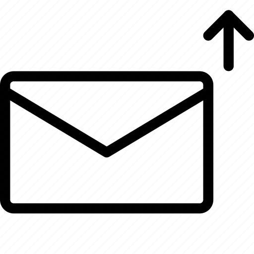 communication, email, mail, message, up icon