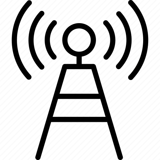 antenna, electrical, technology, wifi signal icon