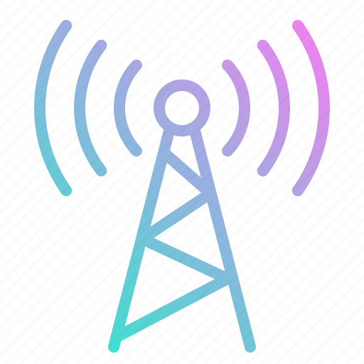 antennas, communications, mobile, signal, technology, tower icon