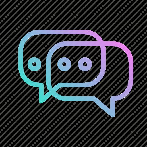 chat, communication, conversation, social, speech, talk, text icon