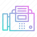 fax, material, office, phone, technology, telephone icon