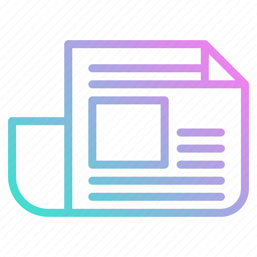 interface, journal, news, newspaper, report icon