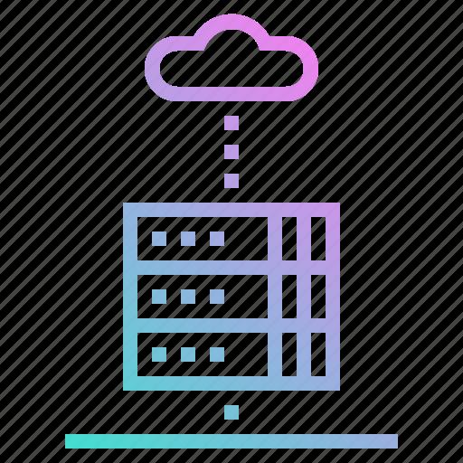 communications, database, files, network, servers, storage icon