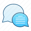 bubble, chat, communication, contact us icon