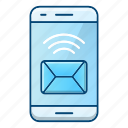 communication, device, mail, message icon