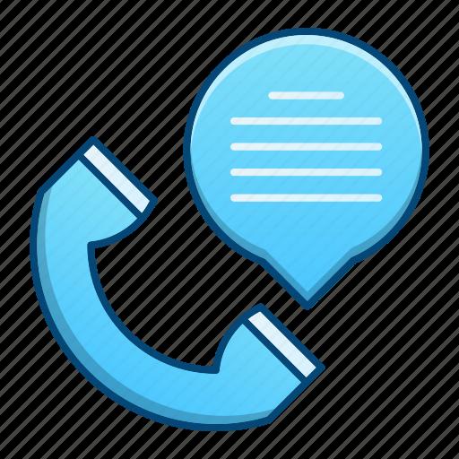 bubble, communication, contact, phone icon