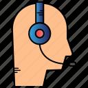 call, contact, senter, service icon