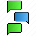 chatting, conversation, speech, talking icon
