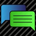 bubble, chatting, conversation, speech, talking icon