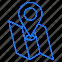 destination, location, map, navigation icon