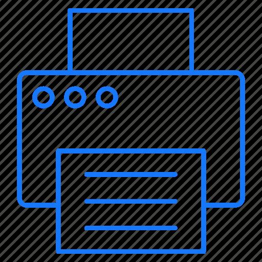 computer, device, print, printer, printing icon