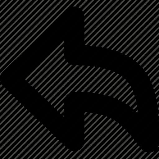 arrow, communication, icon, reply icon