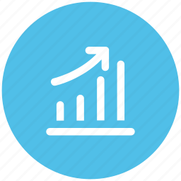 benefit, business chart, business growth, chart, increasing, profit chart, progress chart icon